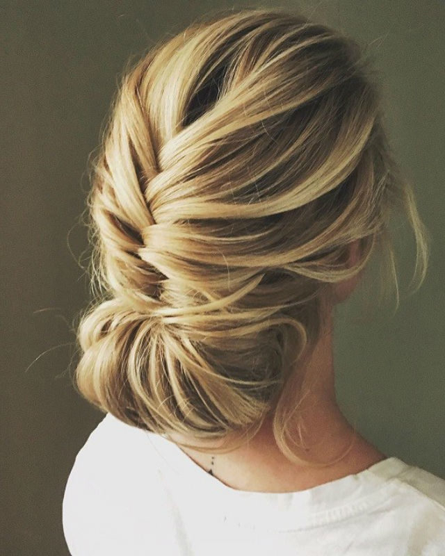 2018 Wedding Hair Trends | The Ultimate Wedding Hair Styles Of 2018 Inside Highlighted Braided Crown Bridal Hairstyles (View 21 of 25)