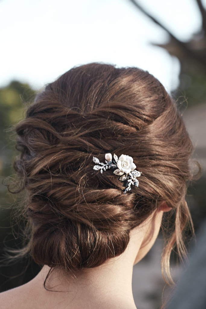 2018 Wedding Hair Trends | The Ultimate Wedding Hair Styles Of 2018 Throughout Pinned Back Tousled Waves Bridal Hairstyles (View 21 of 25)