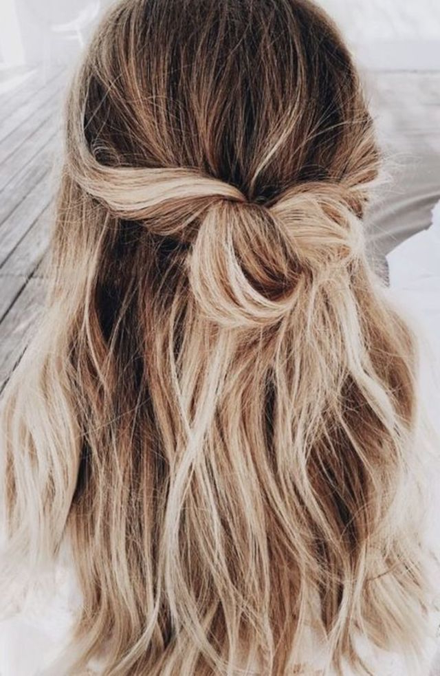2018 Wedding Hair Trends | The Ultimate Wedding Hair Styles Of 2018 With Regard To Medium Half Up Half Down Bridal Hairstyles With Fancy Knots (View 12 of 25)