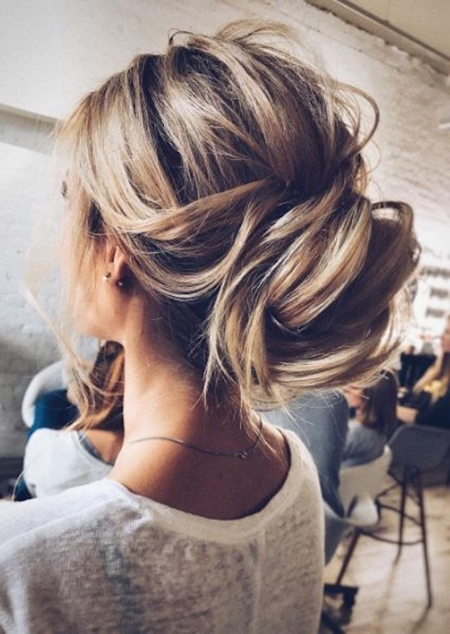 2018 Wedding Hair Trends | The Ultimate Wedding Hair Styles Of 2018 Within Low Messy Chignon Bridal Hairstyles For Short Hair (View 19 of 25)