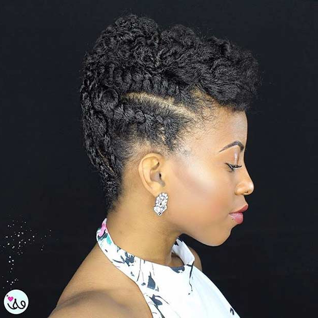 21 Gorgeous Flat Twist Hairstyles | Page 2 Of 2 | Stayglam Within Short And Flat Updo Hairstyles For Wedding (View 18 of 25)