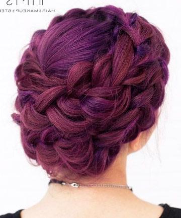 21 Lavender Hair Looks That Will Make You Grab Hair Dye Immediately Inside Braided Lavender Bridal Hairstyles (View 7 of 25)