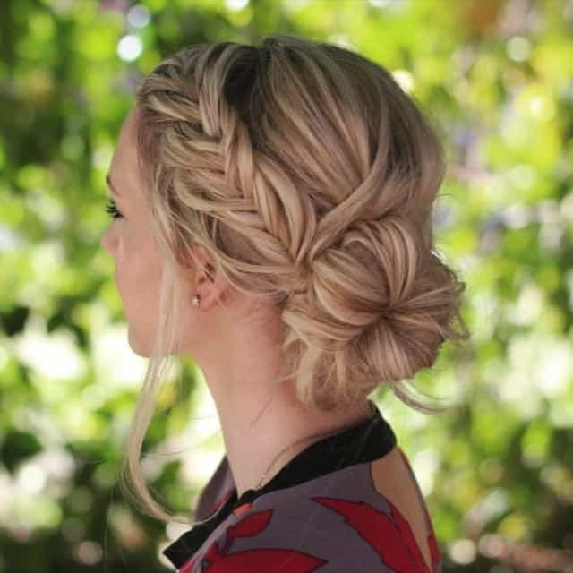 21 Magnificent Bridesmaid Hairstyles For Long & Medium Hair With Regard To Bumped Hairdo Bridal Hairstyles For Medium Hair (View 7 of 25)