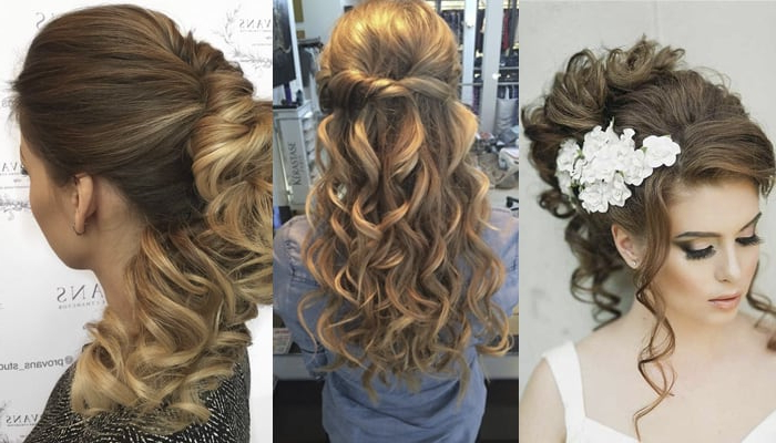 21 Magnificent Bridesmaid Hairstyles For Long & Medium Hair With Regard To Bumped Twist Half Updo Bridal Hairstyles (View 21 of 25)