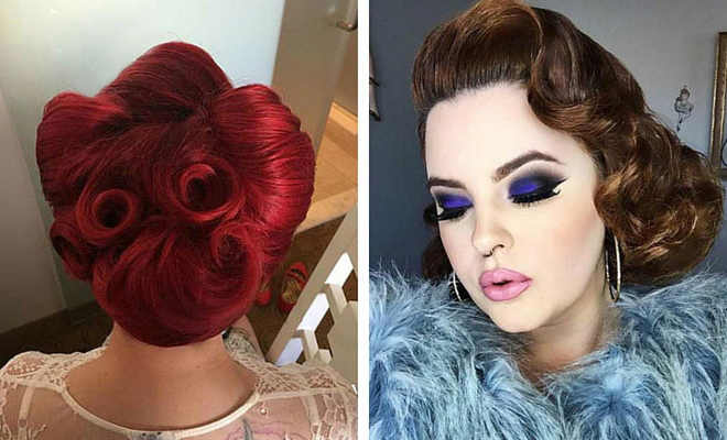 21 Pin Up Hairstyles That Are Hot Right Now | Stayglam Inside Pin Up Curl Hairstyles For Bridal Hair (View 7 of 25)
