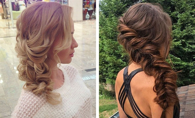 21 Pretty Side Swept Hairstyles For Prom | Stayglam In Loose Updo Wedding Hairstyles With Whipped Curls (View 13 of 25)
