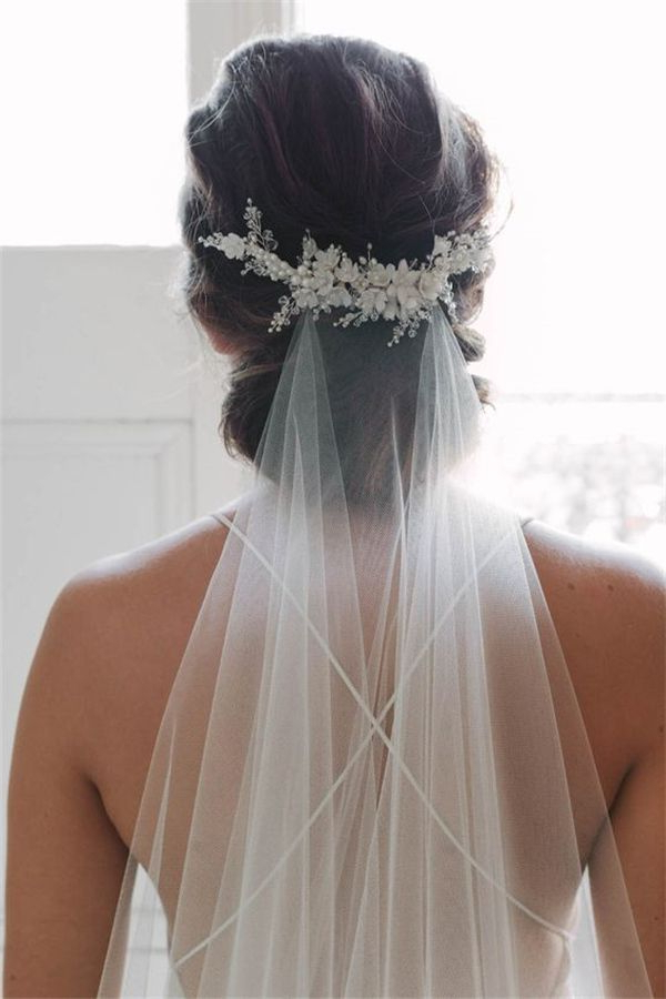 21 Wedding Veils You Will Fall In Love With | Wedding Veils | Pinterest In Pulled Back Half Updo Bridal Hairstyles With Comb (View 15 of 25)