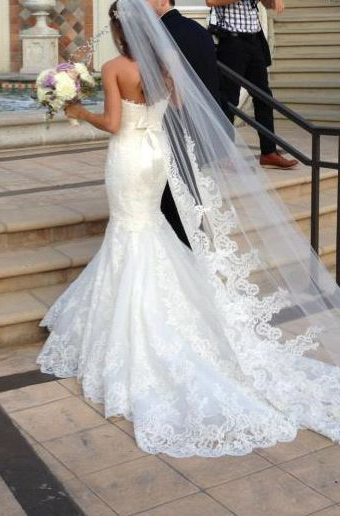 21 Wedding Veils You Will Fall In Love With   Wedding Veils Regarding Wedding Hairstyles With Extra Long Veil With A Train (View 3 of 25)