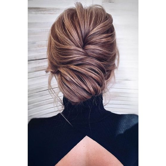 22 Gorgeous Mother Of The Bride Hairstyles Regarding Messy Woven Updo Hairstyles For Mother Of The Bride (View 11 of 25)