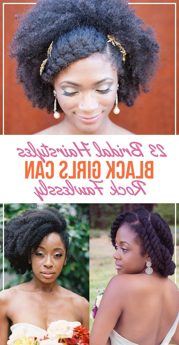 23 Bridal Hairstyles That Look Great On Black Women | Weddings Within Bedazzled Chic Hairstyles For Wedding (View 12 of 25)