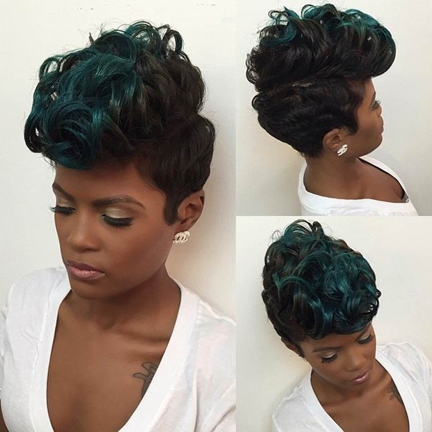 23 Faux Hawk Hairstyles For Women   Stayglam Inside Short Hair Wedding Fauxhawk Hairstyles With Shaved Sides (View 9 of 25)