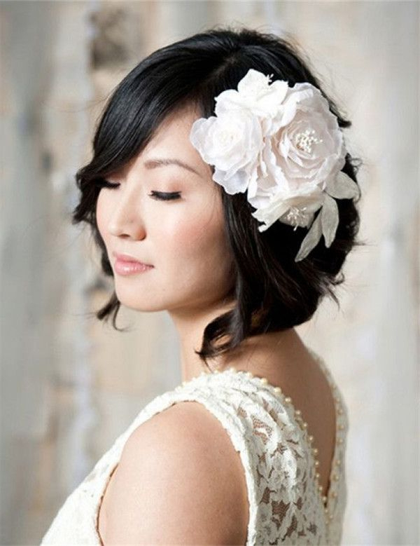23 Most Glamorous Wedding Hairstyle For Short Hair – Haircuts Intended For Braided Bob Short Hairdo Bridal Hairstyles (View 21 of 25)