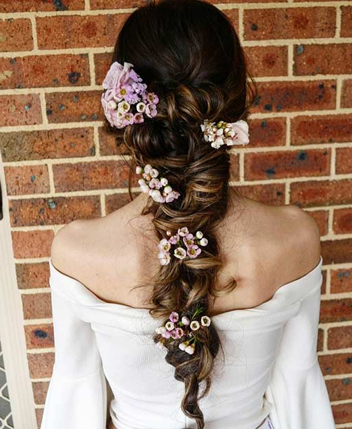 23 Romantic Wedding Hairstyles For Long Hair | Stayglam Throughout Braided Lavender Bridal Hairstyles (View 16 of 25)