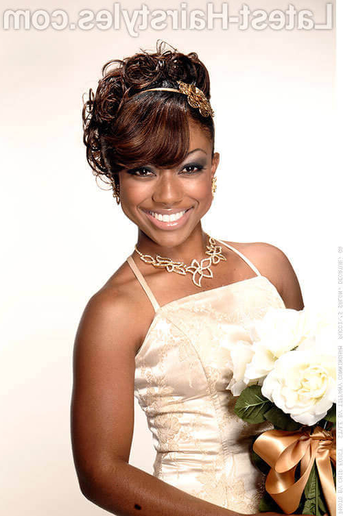 24 Amazing Prom Hairstyles For Black Girls For 2019 Within Short And Flat Updo Hairstyles For Wedding (View 21 of 25)