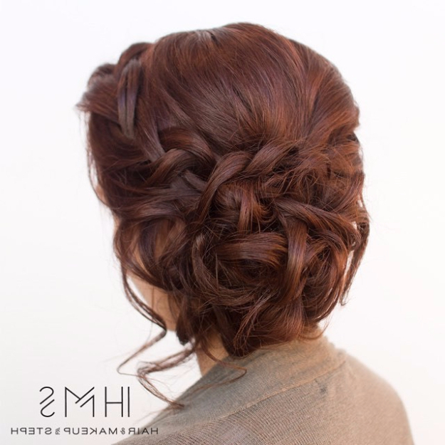 24 Beautiful Bridesmaid Hairstyles For Any Wedding – The Goddess Pertaining To Short Side Braid Bridal Hairstyles (View 17 of 25)