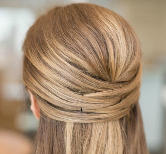 24 Beautiful Ways To Wear Long Locks This Fall | Styles Weekly With Regard To Crisscrossed Half Up Wedding Hairstyles (View 22 of 25)