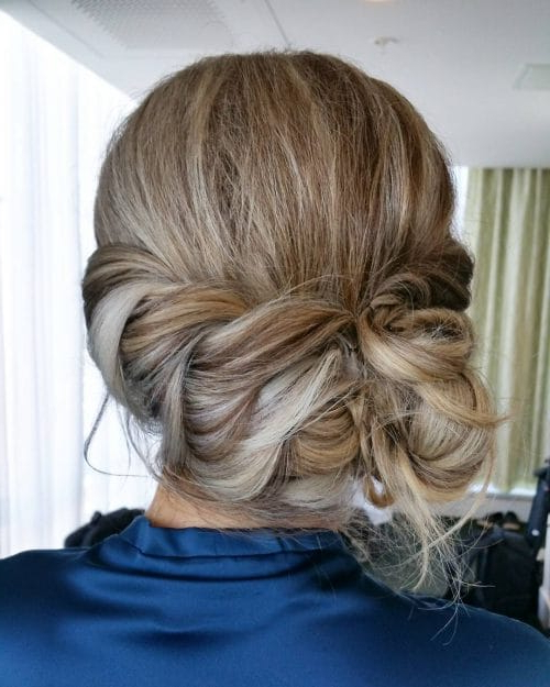 24 Best Updos For Medium Hair In 2019 Inside Fancy Chignon Wedding Hairstyles For Lob Length Hair (View 9 of 25)