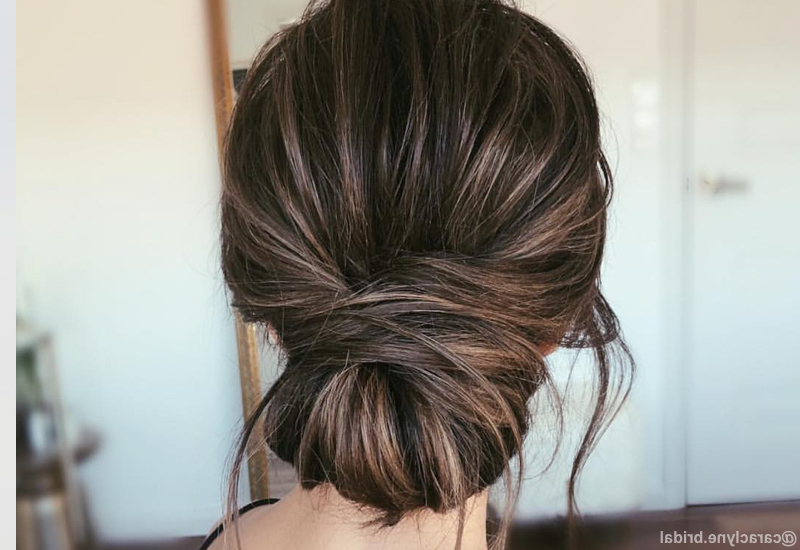24 Best Updos For Medium Hair In 2019 Intended For Dimensional Waves In Half Up Wedding Hairstyles (View 14 of 25)