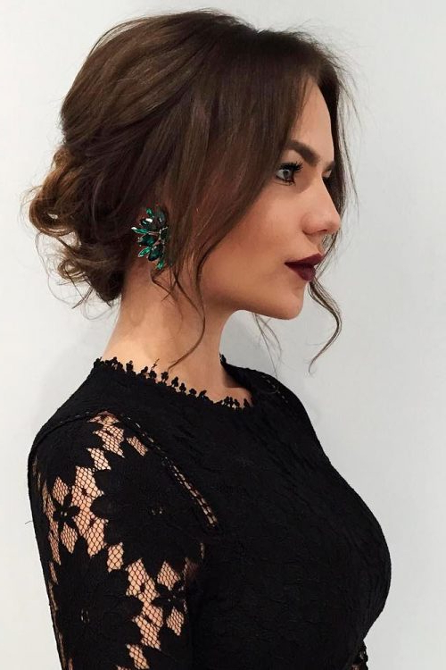 24 Best Updos For Medium Hair In 2019 Intended For Soft Shoulder Length Waves Wedding Hairstyles (View 24 of 25)