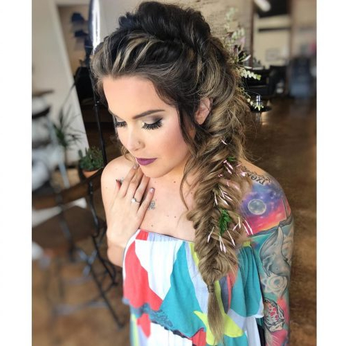 24 Gorgeous Wedding Hairstyles For Long Hair In 2019 Intended For Voluminous Side Wedding Updos (View 20 of 25)