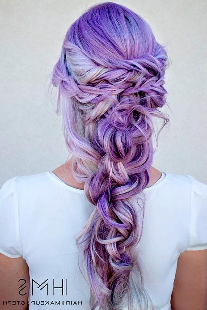 24 Inspirational Ideas To Braid Your Purple Hair | Hair Bravery With Regard To Braided Lavender Bridal Hairstyles (View 2 of 25)