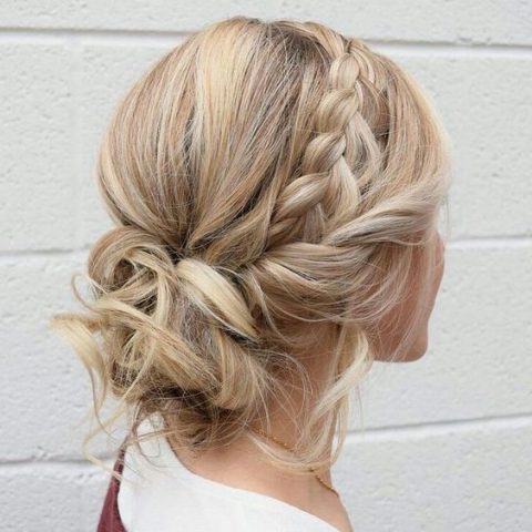 25 Awesome Low Bun Wedding Hairstyles | Happywedd Pertaining To Twisted Side Updo Hairstyles For Wedding (View 12 of 25)