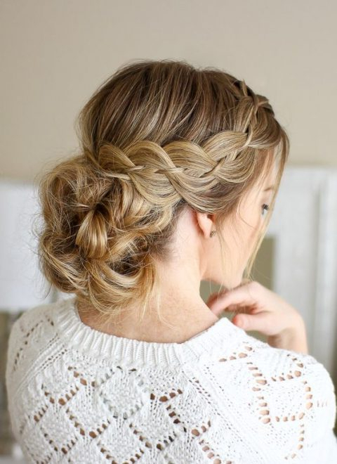 25 Awesome Low Bun Wedding Hairstyles | Happywedd Within Low Twisted Bun Wedding Hairstyles For Long Hair (View 6 of 25)