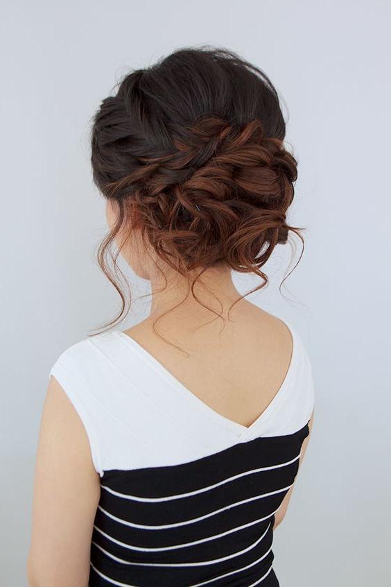 25 Chic Bridesmaids' Updos For Any Style – Weddingomania Regarding Elegant Bridal Hairdos For Ombre Hair (View 13 of 25)