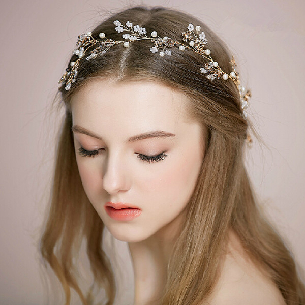 25 Chic Updo Wedding Hairstyles For All Brides Pertaining To High Updos With Jeweled Headband For Brides (View 18 of 25)