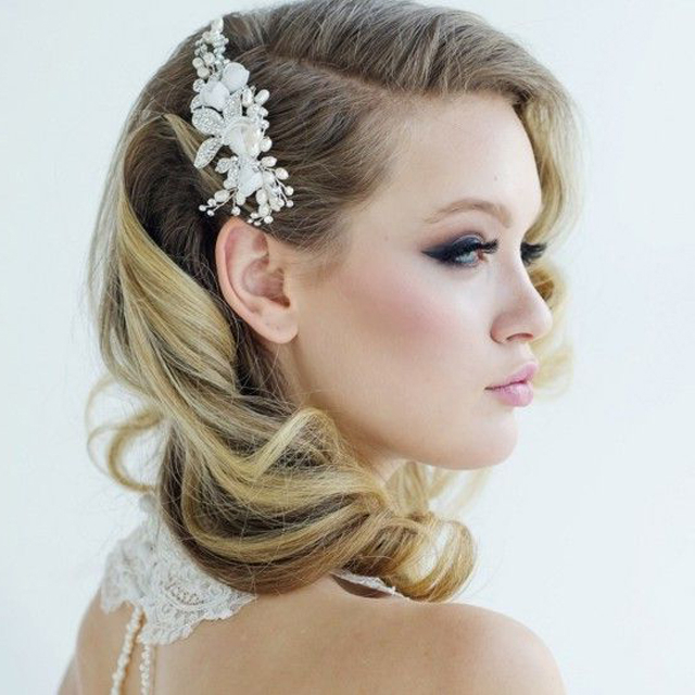 25 Classic And Beautiful Vintage Wedding Hairstyles – Haircuts For Retro Glam Wedding Hairstyles (View 7 of 25)