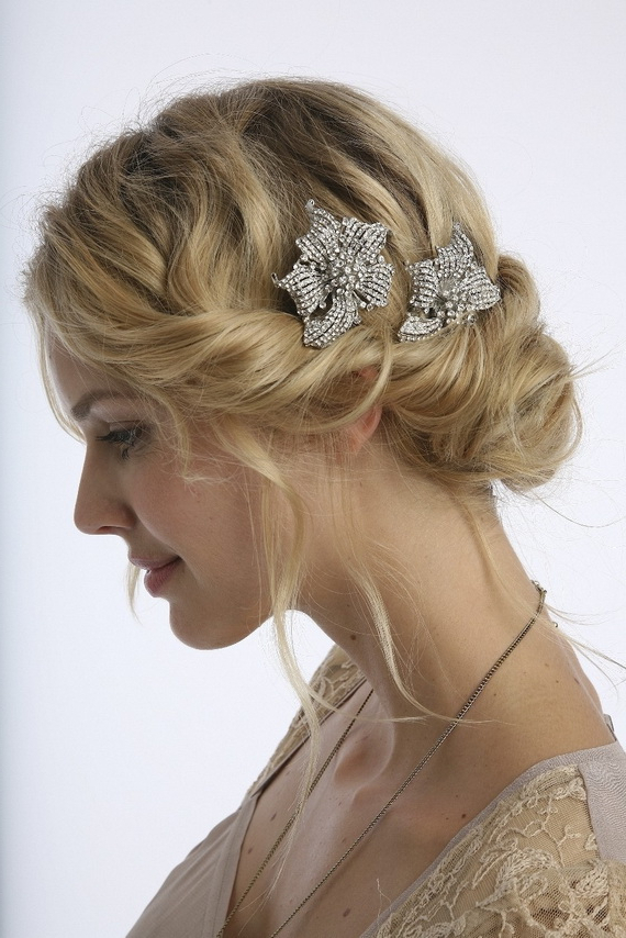25 Classic And Beautiful Vintage Wedding Hairstyles – Haircuts With Regard To Short And Flat Updo Hairstyles For Wedding (View 24 of 25)