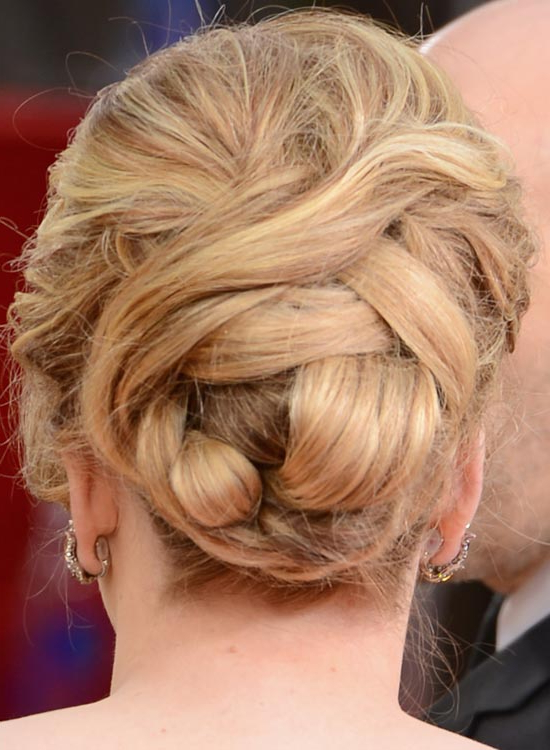25 Simple And Stunning Updo Hairstyles For Curly Hair – Haircuts Within Curly Bun Bridal Updos For Shorter Hair (View 11 of 25)