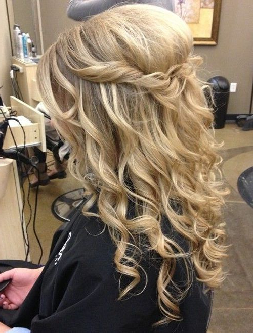 25 Special Occasion Hairstyles | Hair | Hair Styles, Hair, Curly Intended For Curly Wedding Updos With A Bouffant (View 21 of 25)