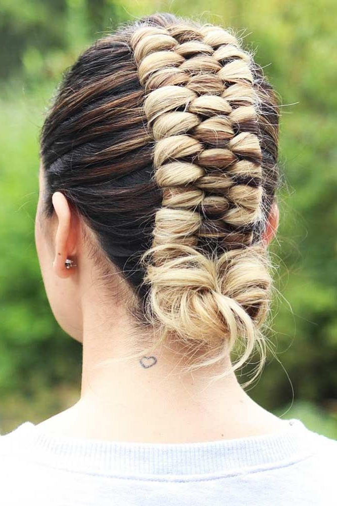 25 Top Updos For Various Occasions | Greiðslur | Hair Styles, Braids In Infinity Wedding Updos (View 7 of 25)