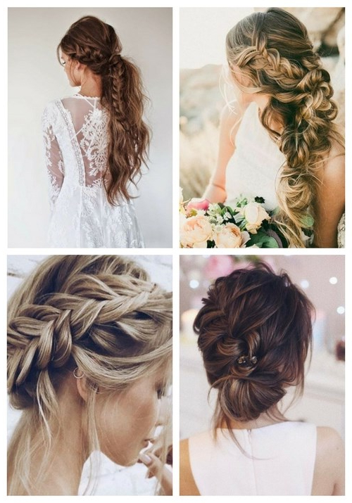 25 Ultimate Braids And Braided Hairstyles For Brides | Happywedd Throughout Natural Looking Braided Hairstyles For Brides (View 24 of 25)