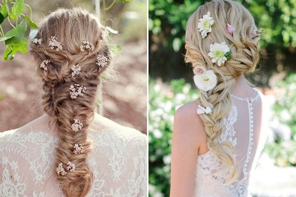 250 Bridal Wedding Hairstyles For Long Hair That Will Inspire – Hi Inside Braided Lavender Bridal Hairstyles (View 11 of 25)