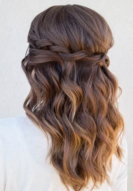 26 Stunning Half Up, Half Down Hairstyles | Stayglam Hairstyles For Fabulous Cascade Of Loose Curls Bridal Hairstyles (View 5 of 25)