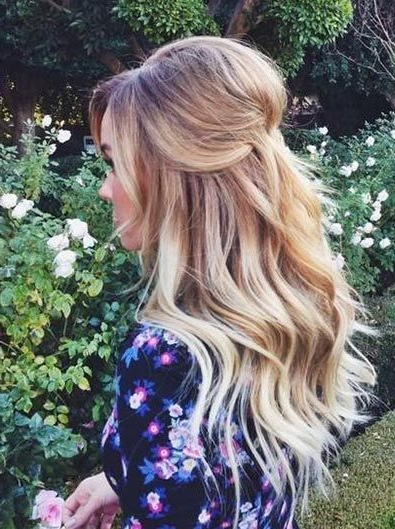 26 Stunning Half Up, Half Down Hairstyles | Stayglam Hairstyles Pertaining To Teased Wedding Hairstyles With Embellishment (View 9 of 25)