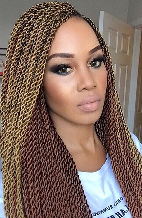 27 Chic Senegalese Twist Hairstyles For Women – The Trend Spotter Within Two Toned Twist Updos For Wedding (View 24 of 25)