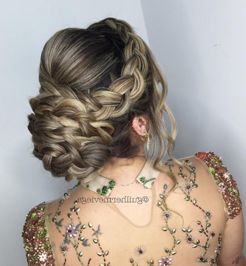 27 Curly Updos For Curly Hair (See These Cute Ideas For 2019) Within Delicate Curly Updo Hairstyles For Wedding (View 16 of 25)