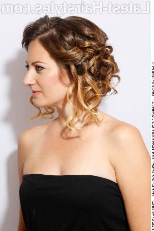27 Curly Updos For Curly Hair (See These Cute Ideas For 2019) Within Voluminous Curly Updo Hairstyles With Bangs (View 15 of 25)