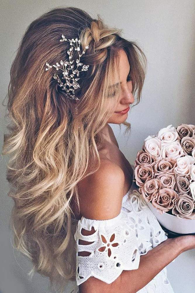 27 Ombre Wedding Hairstyles | Hair Styles | Pinterest | Wedding Throughout Teased Wedding Hairstyles With Embellishment (View 4 of 25)