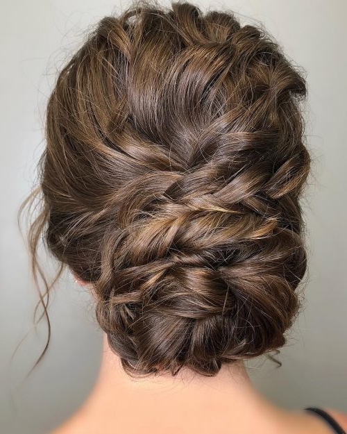 28 Cute & Easy Updos For Long Hair (2019 Trends) Intended For Loose Updo Wedding Hairstyles With Whipped Curls (View 16 of 25)