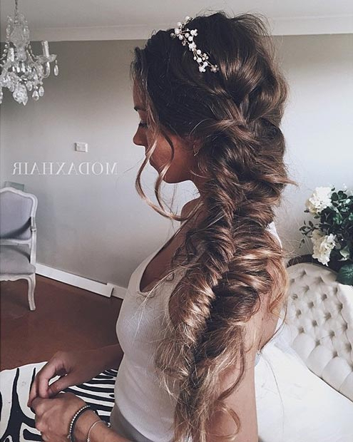 28 Trendy Wedding Hairstyles For Chic Brides | Page 2 Of 3 | Stayglam Intended For Crown Braid, Bouffant And Headpiece Bridal Hairstyles (View 24 of 25)