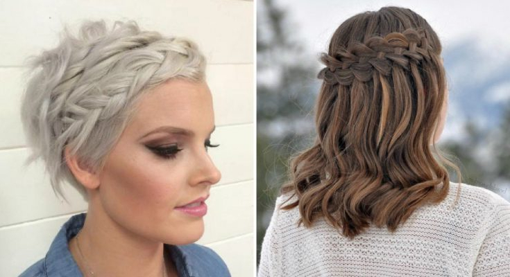 29 Swanky Braided Hairstyles To Do On Short Hair – Wild About Beauty Inside Short Wedding Hairstyles With A Swanky Headband (View 9 of 25)