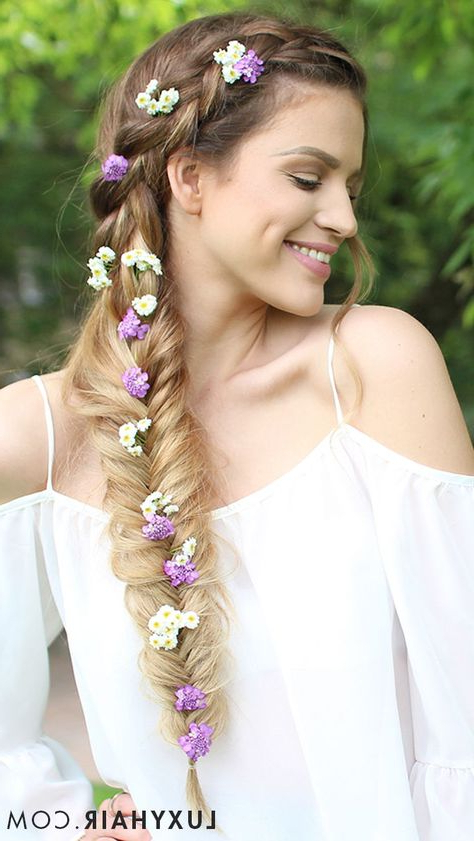 3 Easy Heatless Summer Hairstyles | Hair | Hair Styles, Hair, Braids In Bohemian And Free Spirited Bridal Hairstyles (View 25 of 25)