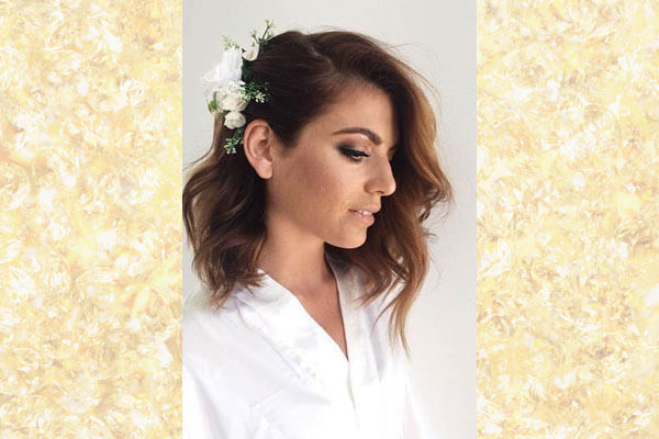 3 Wedding Hairstyles For Short Hair | Bebeautiful For Pinned Back Tousled Waves Bridal Hairstyles (View 24 of 25)