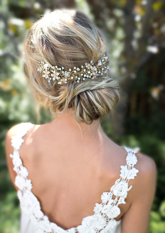 30 Beautiful Wedding Hairstyles – Romantic Bridal Hairstyle Ideas Throughout Embellished Caramel Blonde Chignon Bridal Hairstyles (View 22 of 25)