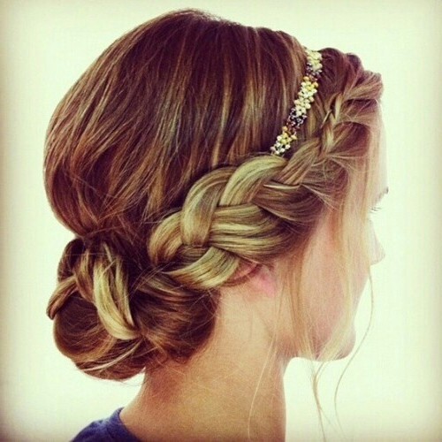 30 Best Dutch Braid Inspired Hairstyles With Regard To Crown Braid, Bouffant And Headpiece Bridal Hairstyles (View 16 of 25)