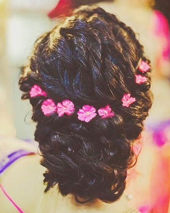 30 Best Indian Bridal Hairstyles Trending This Wedding Season! – Blog Inside Messy French Roll Bridal Hairstyles (View 21 of 25)